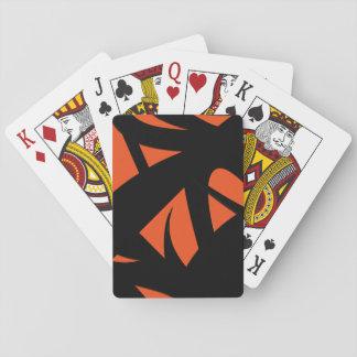 Contemporary Art Orange / Black Playing Cards