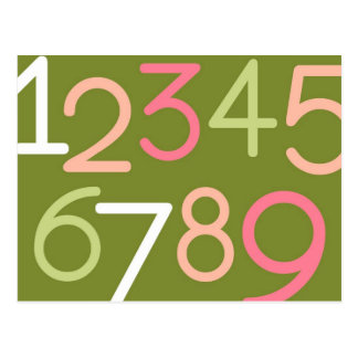 Contemporary Baby | Numbers II Postcard