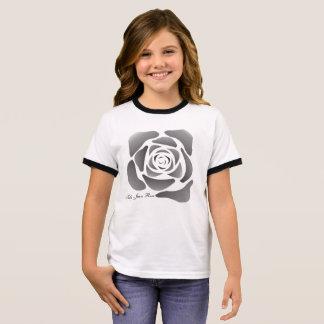 Contemporary Balck Rose T-Shirt