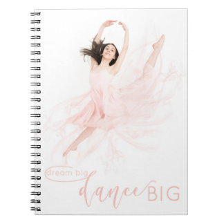 Contemporary ballet dancer in pink notebooks