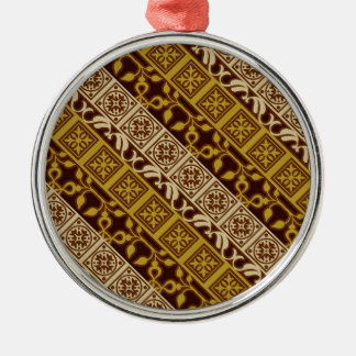 Contemporary Batik Pattern #1 Christmas Ornaments