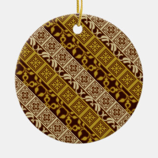 Contemporary Batik Pattern #1 Ornaments