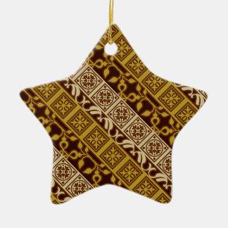 Contemporary Batik Pattern #1 Christmas Ornament