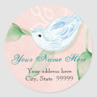Contemporary Birds 'n Swirls,  Address Stickers