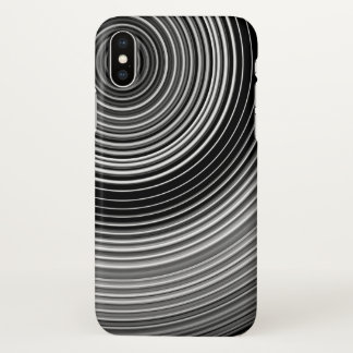 Contemporary Black and White Abstract iPhone X Case