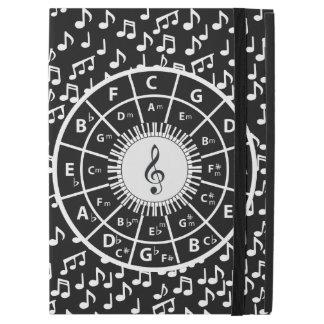 Contemporary black and white music wheel design
