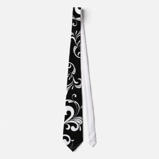 Contemporary Black and White Swirl Tie