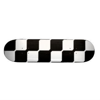 Contemporary Black & White Art Skate Board Deck