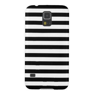 Contemporary Black White Stripes Galaxy S5 Case