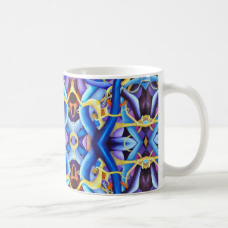 Contemporary Blue Abstract - Depth Illusion Coffee Mug