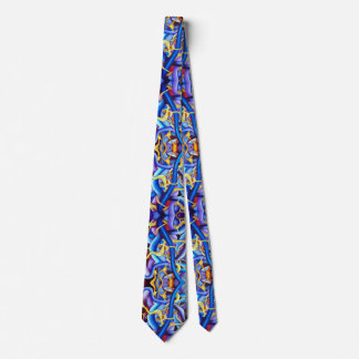 Contemporary Blue Abstract - Depth Illusion Tie
