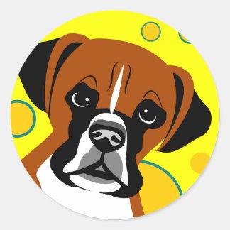 Contemporary Boxer Dog Art Stickers