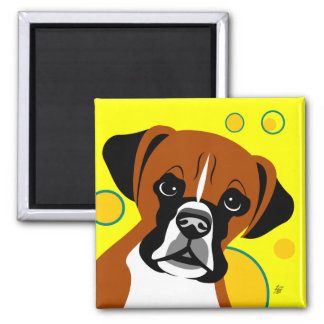 Contemporary Boxer Dog Magnets