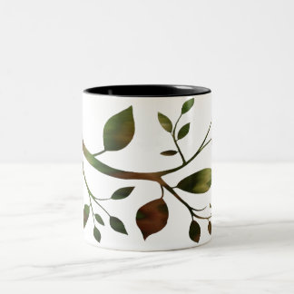 Contemporary Branch Two-Tone Mug