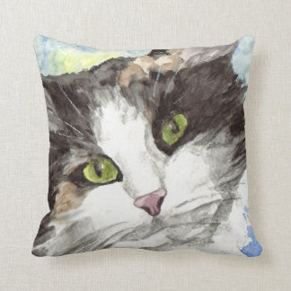 Contemporary Calico Cat Lover Gifts Cushion