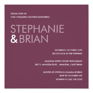 Contemporary Charm Wedding Shower Invites (Plum)