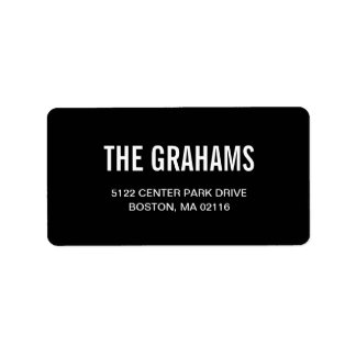 Contemporary Chic Address Labels - Black