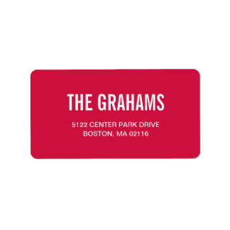Contemporary Chic Address Labels - Raspberry