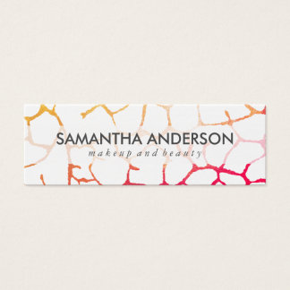Contemporary Chic Pattern Mini Business Card