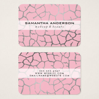 Contemporary Chic Pattern Pink Business Card