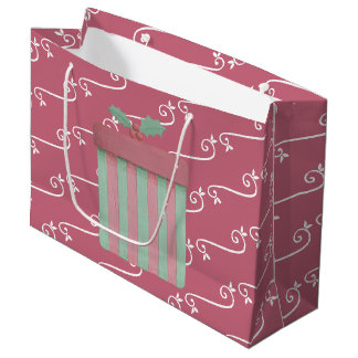 Contemporary Christmas Colors Large Gift Bag