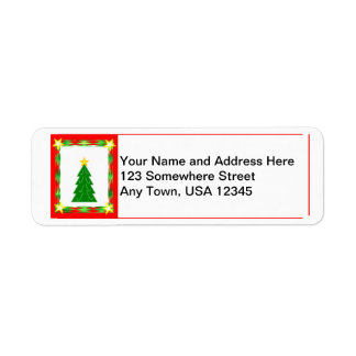 Contemporary Christmas Label Return Address Label