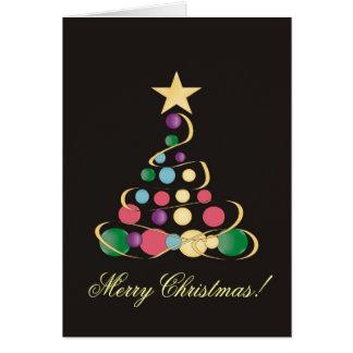 Contemporary Christmas Tree Greeting Card