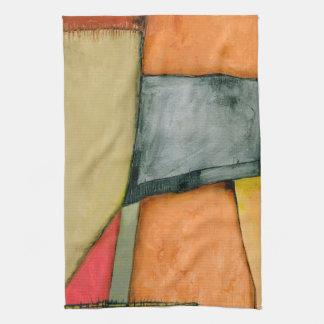 Contemporary Colorful Geometric Shapes Tea Towel