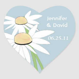Contemporary Daisy Wedding Envelope Seal