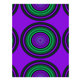 Contemporary dark purple green circles 21.5 cm x 28 cm flyer