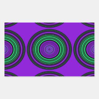 Contemporary dark purple green circles rectangle stickers