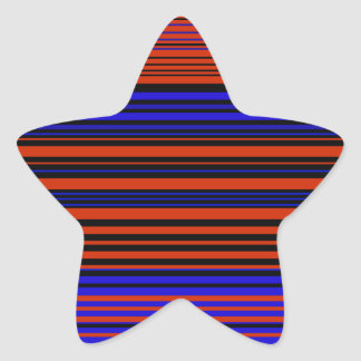 Contemporary dark red blue and black stripes star stickers