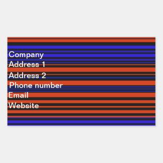 Contemporary dark red blue and black stripes sticker