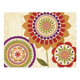Contemporary Fall Flowers Post Card