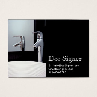contemporary faucet business card