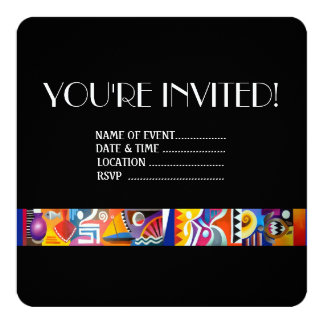Contemporary Fijian 13 Cm X 13 Cm Square Invitation Card