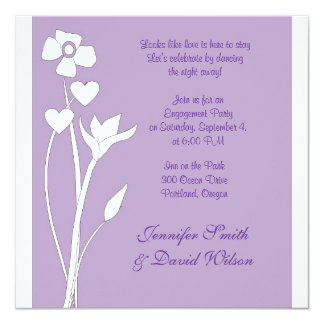 Contemporary Floral Engagement Party Invitation