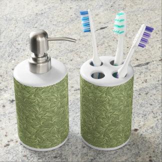 Contemporary floral pattern bath set