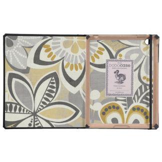 Contemporary Floral Patterns iPad Folio Cases