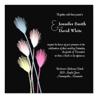 Contemporary Floral Wedding Invitation