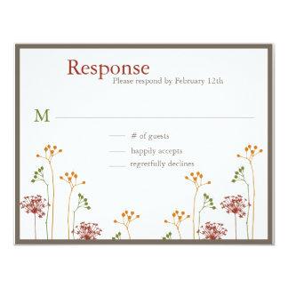 Contemporary Floral Wedding 11 Cm X 14 Cm Invitation Card