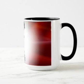 Contemporary French flag & cartoon character mug