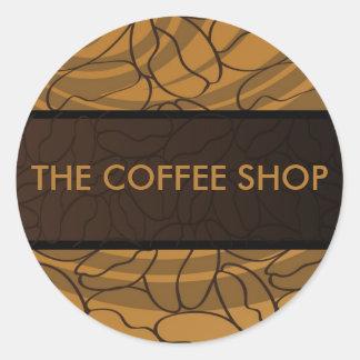 Contemporary, Fun & Colorful Coffee Bean Sticker.
