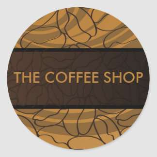 Contemporary, Fun & Colorful Coffee Bean Sticker. Classic Round Sticker