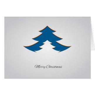 Contemporary, Geometric Christmas Tree /Blue Card
