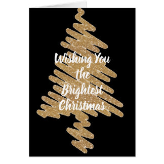 Contemporary Gold Christmas Tree Holiday Card