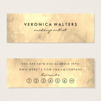 Contemporary Golden Loyalty Mini Business Card