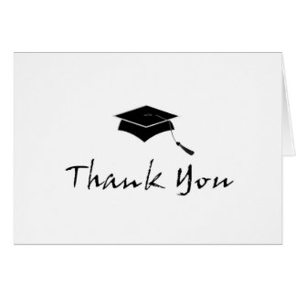 Contemporary Graduation Thank You Note Cards
