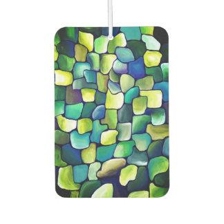 Contemporary Green Pattern Car Air Freshener