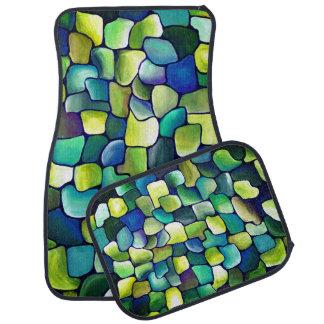 Contemporary Green Pattern Car Mat